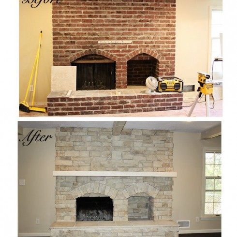 Canyon Stone fireplace reface