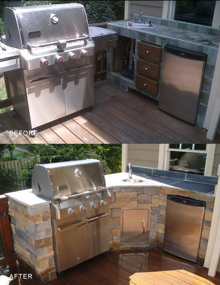 Before & After: Backyard Grill Area image