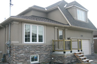 Beautify the outside of your house with exterior stone design and increase its resale value with manufactured stone by Canyon Stone canada