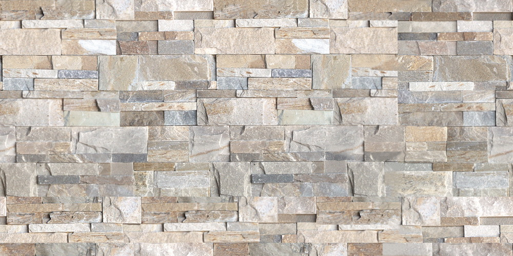 Natural ledge tile - Ivory colour. Ledgerock natural stone panels.