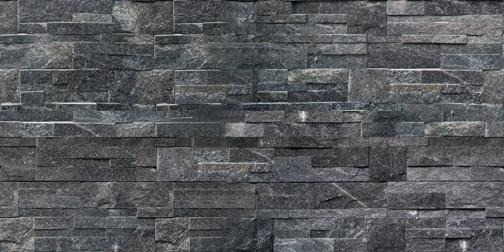 QUARTZITE LEDGE MIDNIGHT BLACK TILE