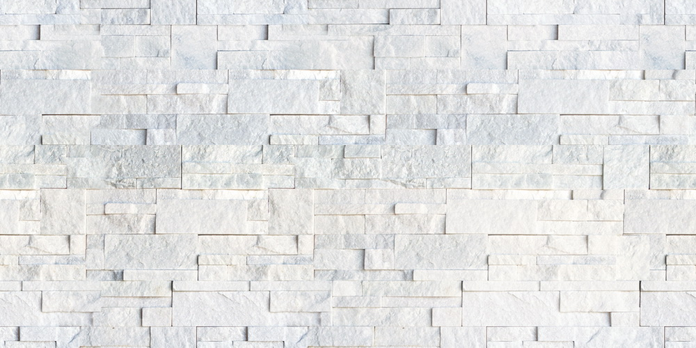 QUARTZITE LEDGE SNOW WHITE TILE