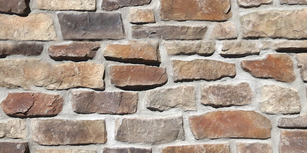 Country ledge tile - Driftwood colour. Country stone wall.