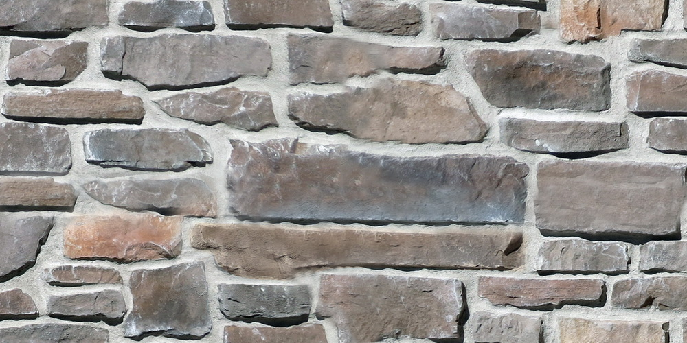 Country ledge tile - Santa fe colour. Country stone wall.