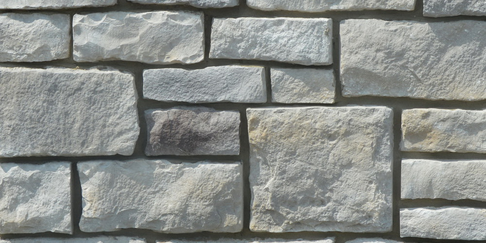 FAUX STONE VENEER RUBBLE GOLDEN GREY