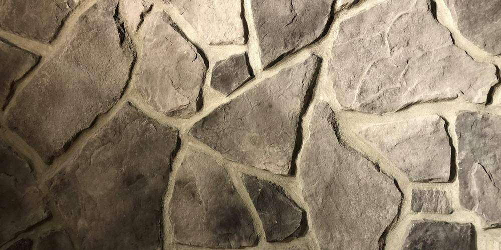 FAUX STONE VENEER COUNTRY FIELDSTONE PEWTER